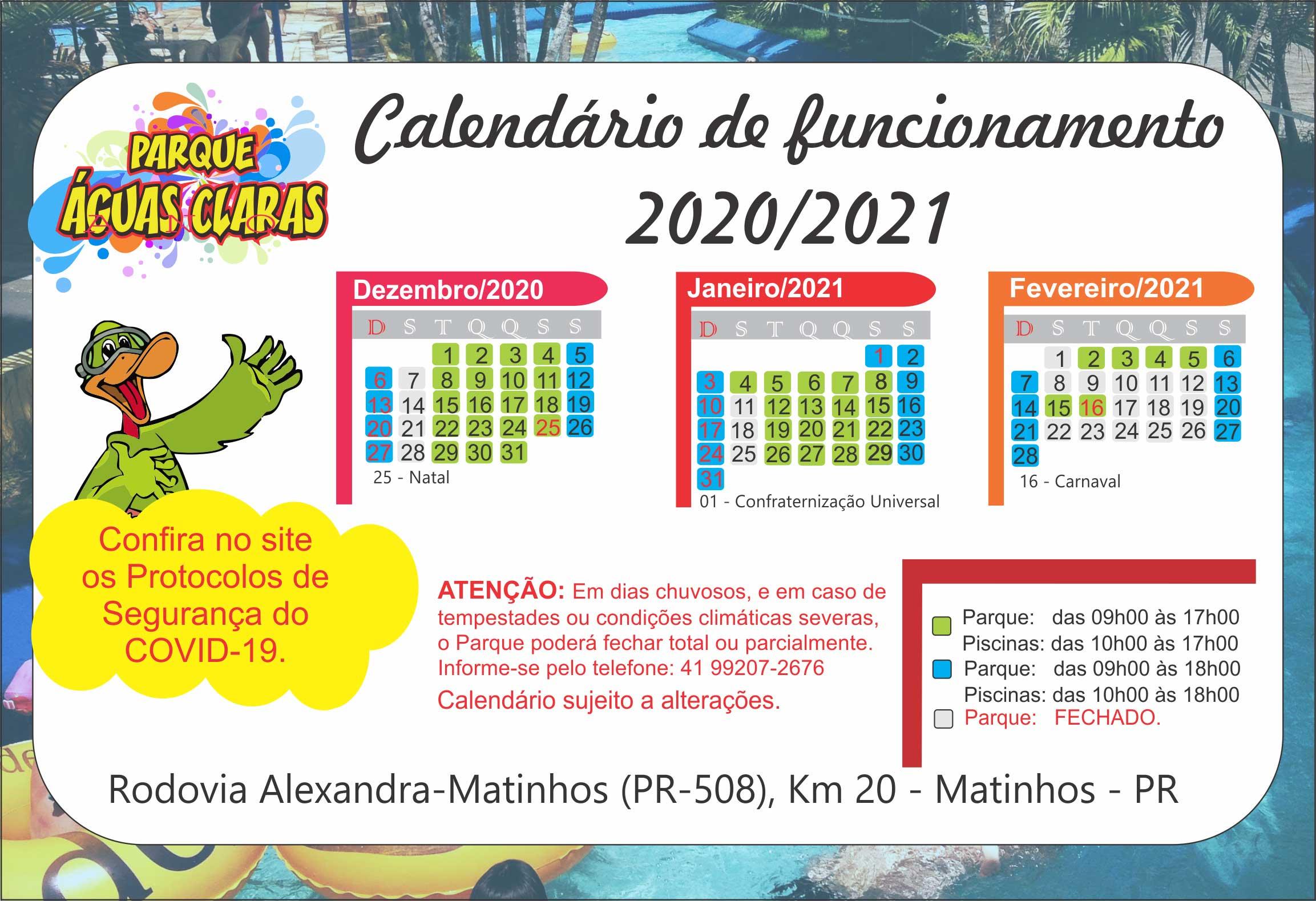 Calendário 2020-2021